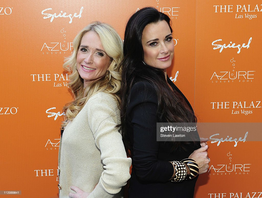 """Beverly Hills Housewives"" Kim And Kyle Richards Host Grand Opening Of Azure Luxury Pool"