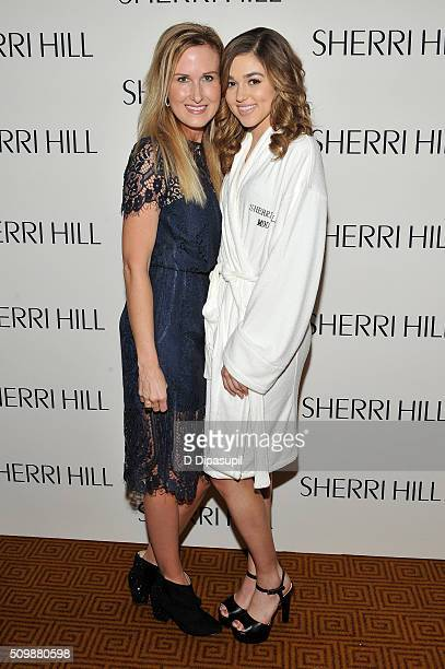 Television personalities Korie Robertson and Sadie Robertson attend the Sherri Hill Fall 2016 fashion show during New York Fashion Week The Shows on...