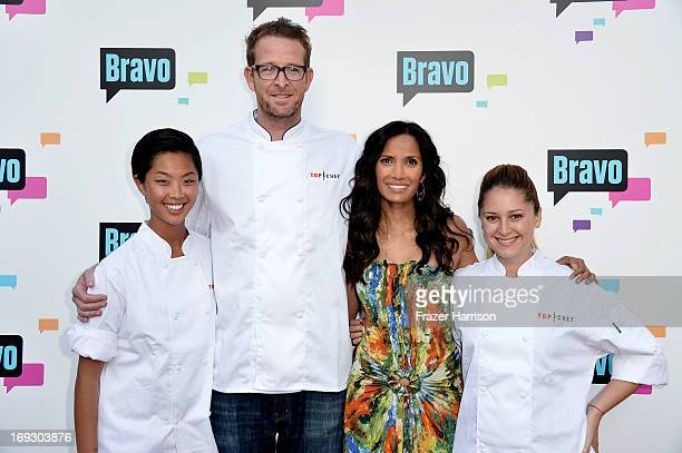 Television Personalities Kristen Kish CJ Jacobson Padma Lakshmi and Brooke Williamson arrive at Bravo Media's 2013 For Your Consideration Emmy Event...