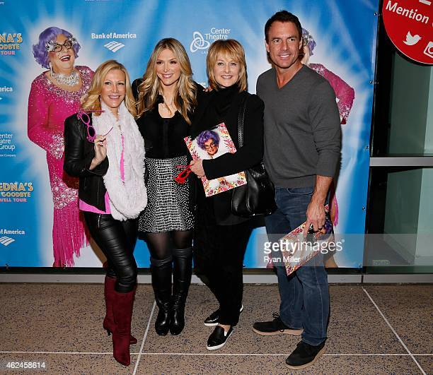 Television personalities Kym Douglas Debbie Matenopoulos Cristina Ferrare and Mark Steines arrive for the opening night performance of Dame Edna's...