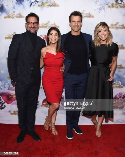 Television personalities Lawrence Zarian Larissa Wohl Cameron Mathison and Debbie Matenopoulos arrive at the Hallmark Channel 'Once Upon A Christmas...