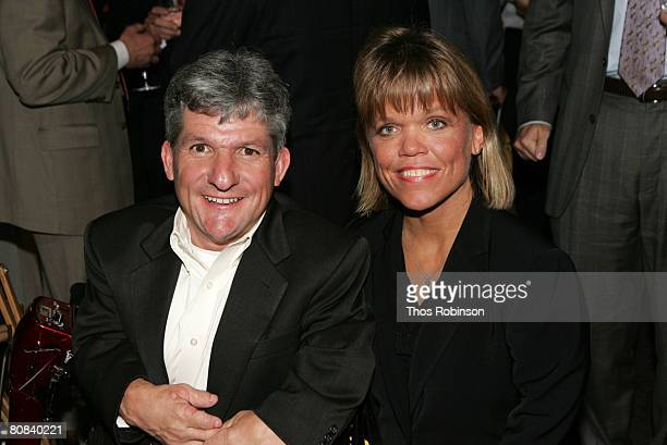 Television personalities Matt and Amy Roloff attend the Discovery Upfront Presentation NY Talent Images at the Frederick P Rose Hall on April 23 2008...