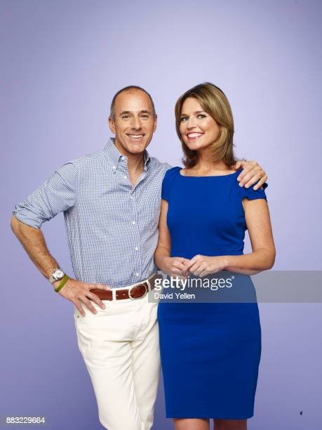 Television personalities Matt Lauer and Savannah Guthrie photographed on July 13 in New York City