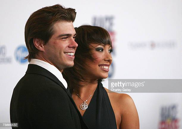Television personalities Matthew Lawrence and Cheryl Burke arrive at a the 14th Annual Race To Erase MS 'Dance to Erase MS'themed gala at the Hyatt...