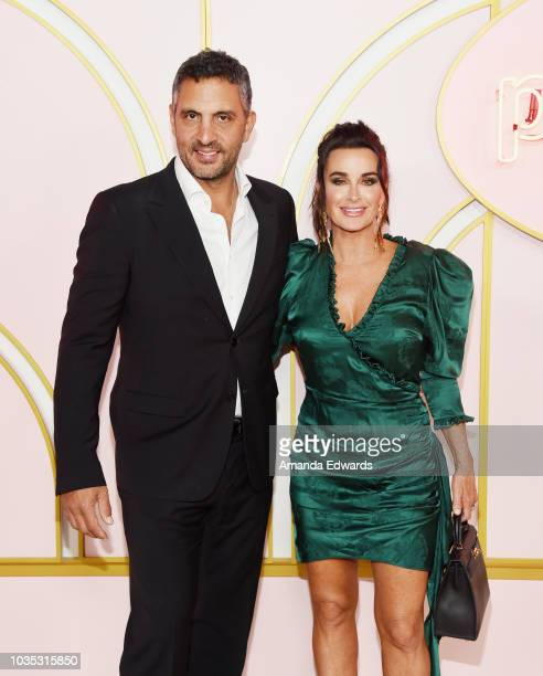 Television personalities Mauricio Umansky and Kyle Richards arrives at the Amazon Prime Video Post Emmy Awards Party 2018 at Cecconi's on September...