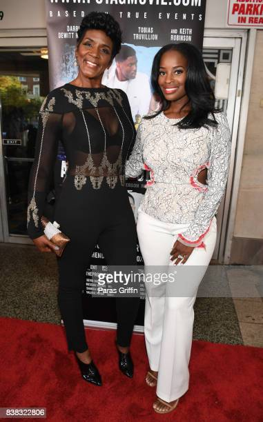 Television personalities Momma Dee and Shamea Morton at The Products Of The American Ghetto Atlanta Screening at The Plaza Theatre on August 23 2017...