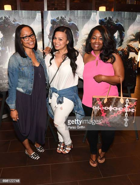 Television personalities Monyetta Shaw Lena Danielle Chenier and blogger Tammie Reed attend TRANSFORMERS THE LAST KNIGHT special screening hosted by...