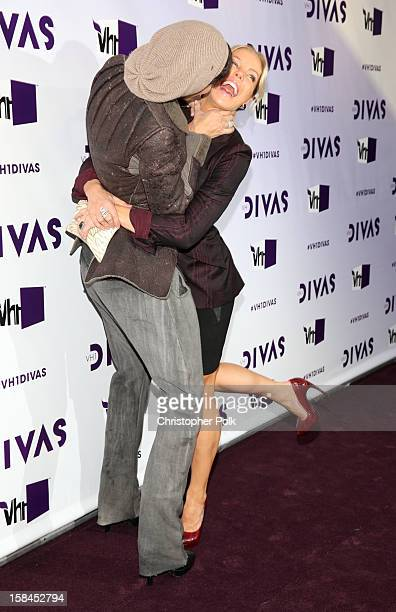 Television personalities Nicole Murphy and Jessica Canseco attend VH1 Divas 2012 at The Shrine Auditorium on December 16 2012 in Los Angeles...