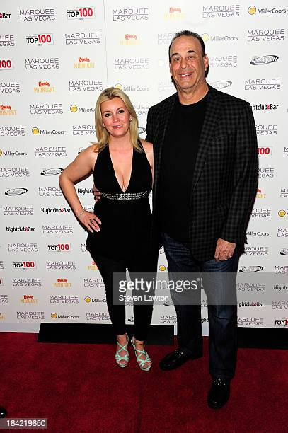 Television personalities Nicole Taffer and Jon Taffer arrive at a Top 100 Platinum Party at the Marquee Nightclub at The Cosmopolitan of Las Vegas on...
