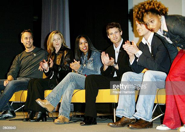 Television personalities Norman Genesis Melissa Danny and Simon from The Real World and Sophia from Road Rules speak on stage at City of Hope's one...