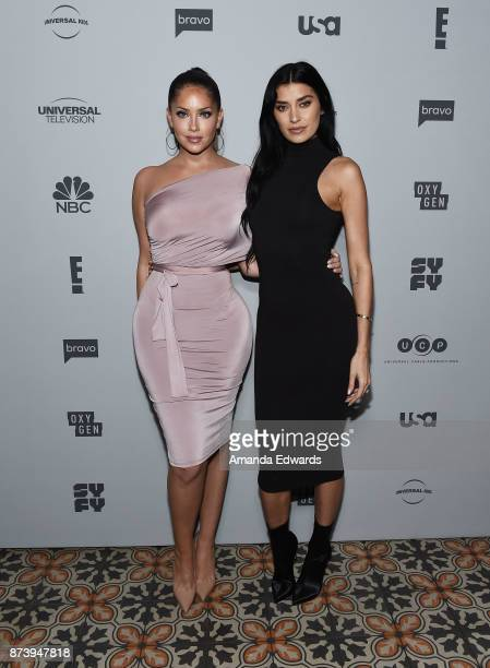 Television personalities Olivia Pierson and Nicole Williams arrive at NBCUniversal's Press Junket at Beauty Essex on November 13 2017 in Los Angeles...