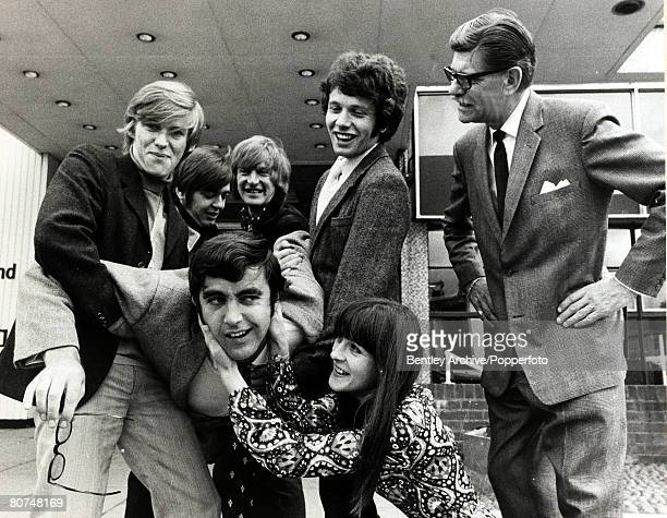 9th September 1970 British actor John Alderton the star of the television school comedy Please Sir gets carried away by some of his class lr Malcolm...
