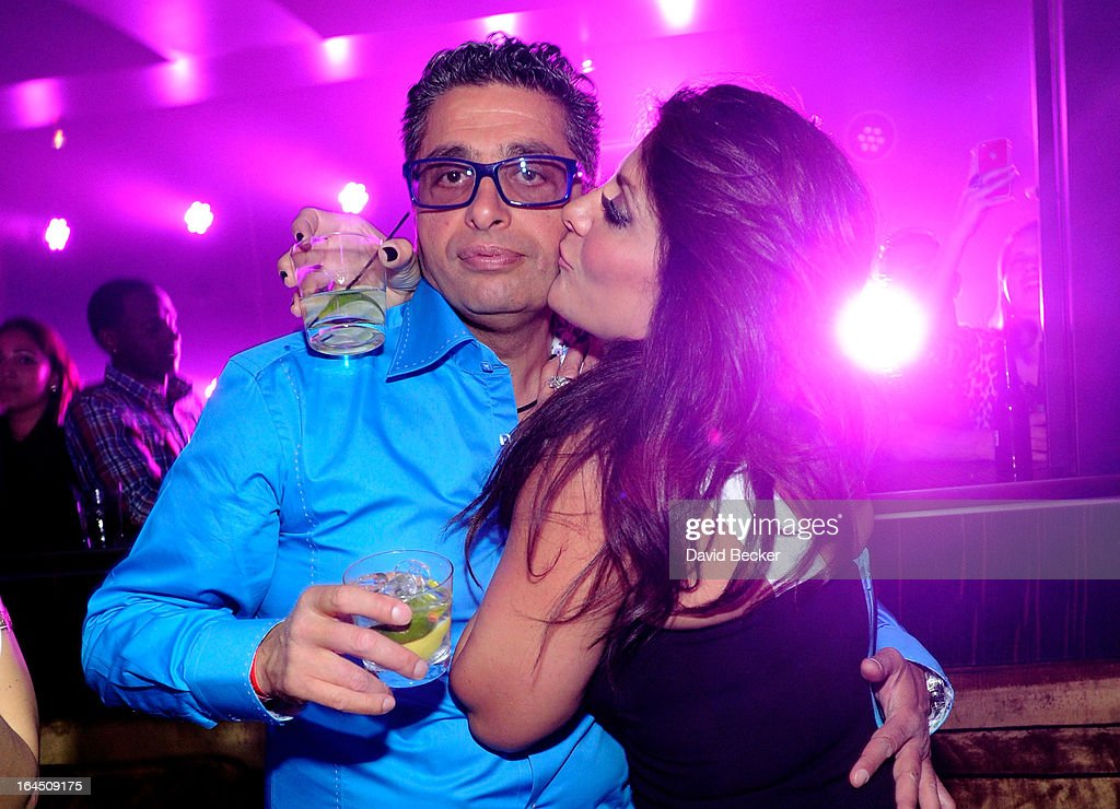 Television personalities Richard Wakile (L) and Kathy Wakile appear at Haze Nightclub at the Aria Resort & Casino at CityCenter on March 23, 2013 in Las Vegas, Nevada.