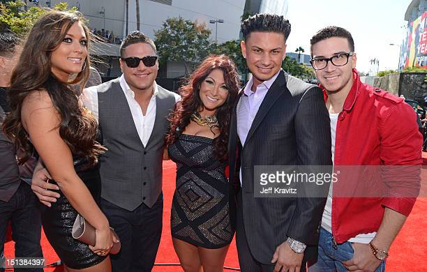 Television personalities Sammi 'Sweetheart' Giancola Ronnie OrtizMagro Deena Nicole Cortese DJ Paul 'Pauly D' DelVecchio and Vinny Guadagnino arrive...