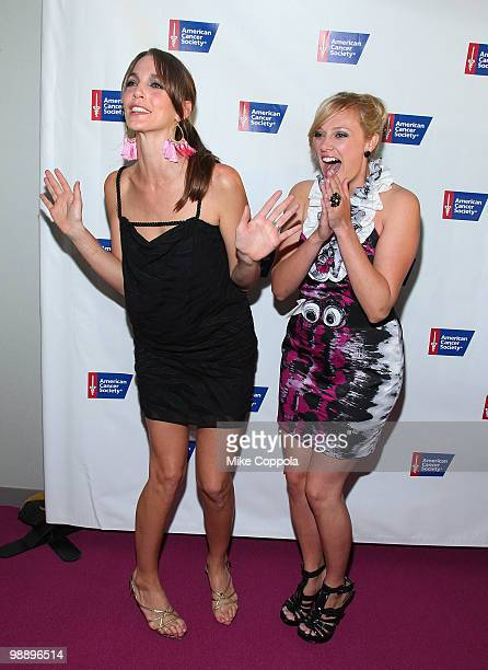 Television personalities Sarah Klo and Shallon Lester attend The American Cancer Society's 2010 Pink and Black Tie Gala at Steiner Studios on May 6,...