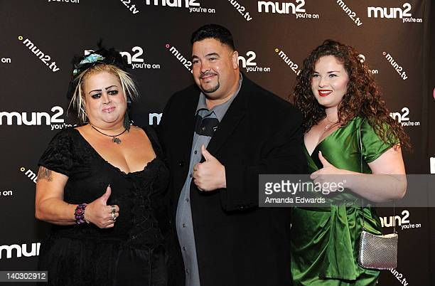 """Television personalities Sonia, Luis and Lyndah Pizarro arrive at Jenni Rivera's """"I Love Jenni"""" Latin Celebrity Reality Show Red Carpet Launch Party..."""