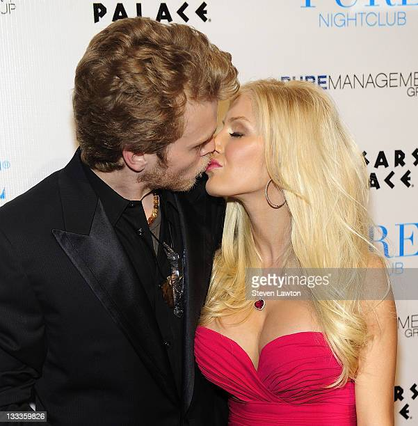 Television personalities Spencer Pratt Heidi Montag arrive to host Valentine's day event at Pure Nightclub on February 13 2010 in Las Vegas Nevada