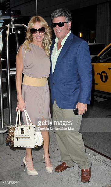 Television personalities Taylor Armstrong and John Bluher are seen on July 28 2014 in New York City