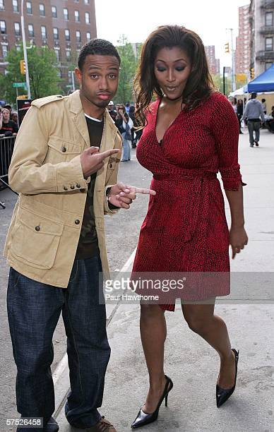BET television personalities Terrence Jackson and Toccara Jones attend the 'Mission Impossible III' premiere in Harlem at the Magic Johnson Theatres...