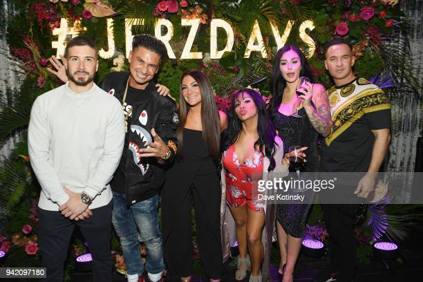 Television personalities Vinny Guadagnino Paul 'Pauly D' DelVecchio Deena Cortese Nicole 'Snooki' Polizzi Jenni 'JWoww' Farley and Mike 'The...