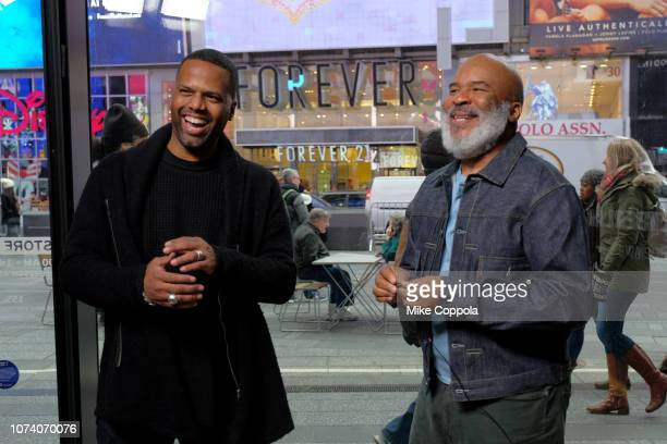 Television personality A J Calloway interviews Actor/comedian David Alan Grier at 'Extra' on November 28 2018 in New York City