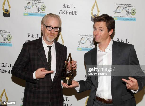 Television personality Adam Savage and race car driver Tanner Foust attend the 3rd Annual SET Awards at the Beverly Hills Hotel on November 13 2013...
