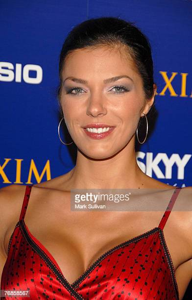 Television personality Adrianne Curry arrives at The Maxim Style Awards held in Hollywood California on September 18 2007