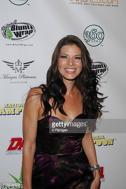 Television personality Adrienne Janic attends National Lampoon's A Night of Fantasy with The Girls Next Door Ludacris at The Playboy Mansion on...