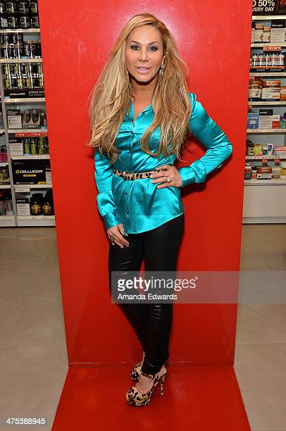 Television personality Adrienne Maloof appears at GNC Beverly Center to promote Never Hungover elixir at GNC at The Beverly Center on February 27...