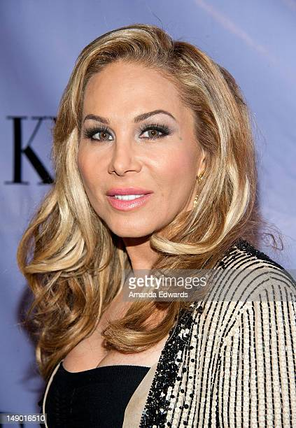 Television personality Adrienne Maloof arrives at the grand opening of Kyle Richards' new boutique Kyle By Alene Too on July 21 2012 in Beverly Hills...