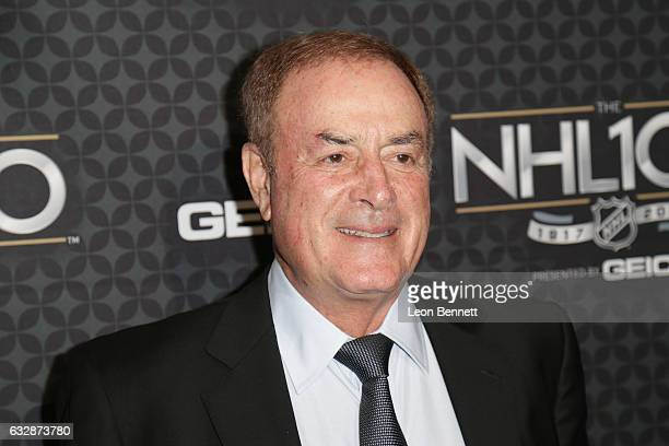 Television personality Al Michaels arrives at the NHL 100 presented by GEICO Red Carpet as part of the 2017 NHL AllStar Weekend at the Microsoft...