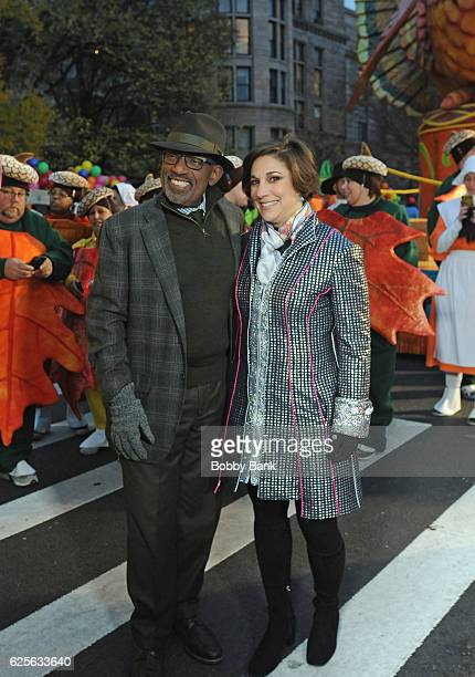 Television personality Al Roker and Amy Kule Macy's Thanksgiving Parade exectutive producer attend the 90th Annual Macy's Thanksgiving Day Parade on...