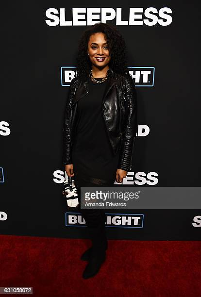 Television personality Alesha Renee arrives at the premiere of Open Road Films' 'Sleepless' at the Regal LA Live Stadium 14 on January 5 2017 in Los...
