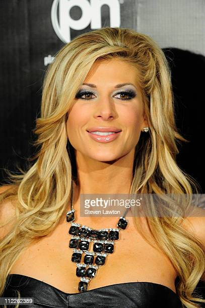 Television personality Alexis Bellino arrives to celebrate Kourtney Kardashian birthday at Gallery Nightclub at Planet Hollywood on April 15 2011 in...