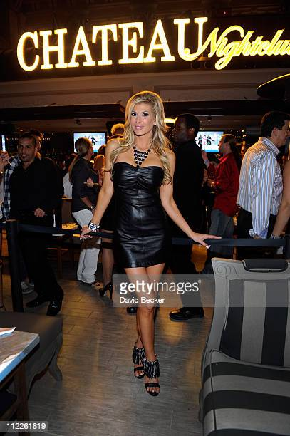 Television personality Alexis Bellino attends the Chateau Nightclub Gardens at the Paris Las Vegas on April 15 2011 in Las Vegas Nevada