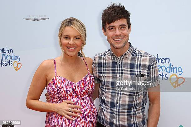 Television Personality Ali Fedotowsky and Kevin Manno arrive at Children Mending Hearts and Vintage Grocers Presents the 8th Annual Empathy Rocks on...