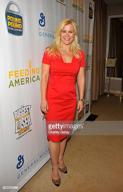 Television personality Alison Sweeney attends the Pound For Pound Challenge for Feeding America an initiative that encourages Americans to lose...
