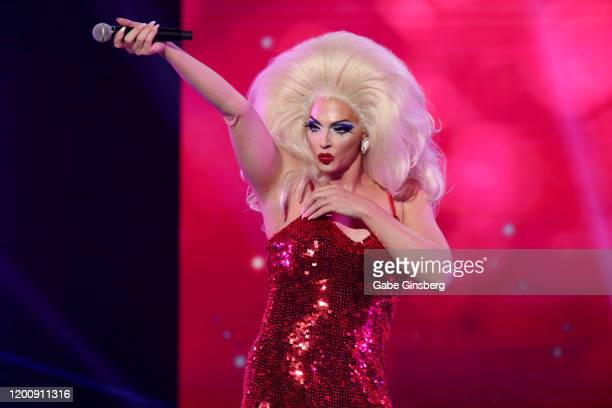 Television personality Alyssa Edwards performs during the 2020 GayVN Awards show at The Joint inside the Hard Rock Hotel Casino on January 20 2020 in...