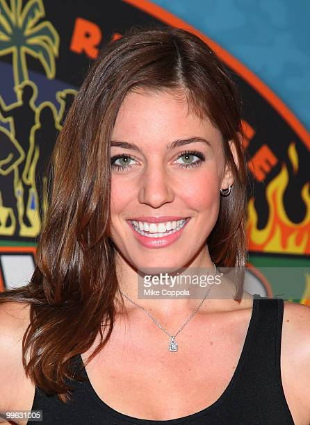 Television personality Amanda Kimmel attends the 'Survivor Heroes Vs Villains' finale reunion show at Ed Sullivan Theater on May 16 2010 in New York...