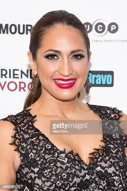 "Television personality Amber Marchese attends the ""Girlfriend's Guide To Divorce"" New York Series Premiere at Crosby Street Hotel on November 20,..."