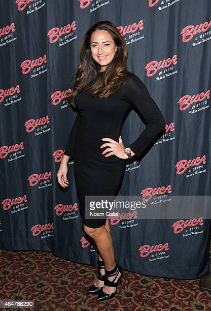 Television personality Amber Marchese visits Buca di Beppo Times Sqaure on February 28, 2015 in New York City.