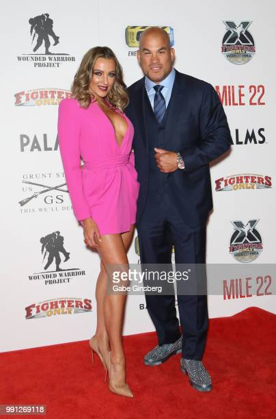 Television personality Amber Nichole Miller and mixed martial artist Tito Ortiz attend the 10th annual Fighters Only World Mixed Martial Arts Awards...