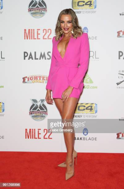 Television personality Amber Nichole Miller attends the 10th annual Fighters Only World Mixed Martial Arts Awards at Palms Casino Resort on July 3...
