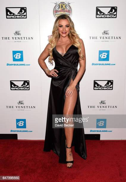 Television personality Amber Nichole Miller attends the ninth annual Fighters Only World Mixed Martial Arts Awards at The Palazzo Las Vegas on March...
