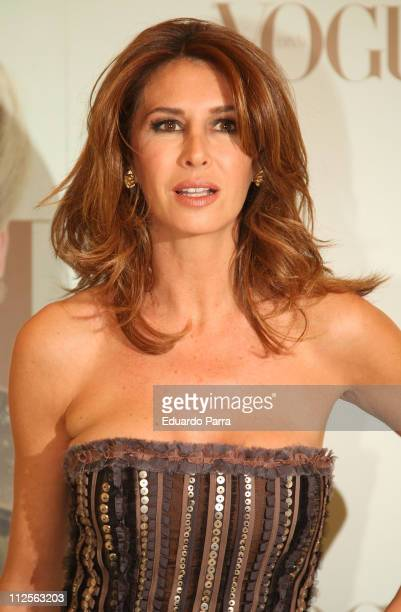 Television personality Ana GarciaSineriz at Vogue Awards Party on October 25 2007 in Madrid Spain
