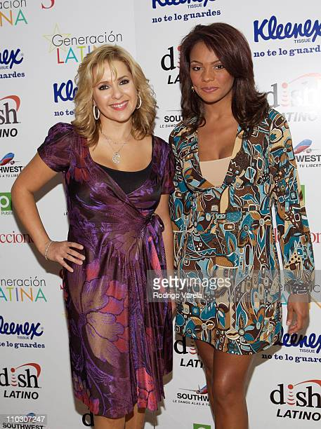 Television personality Ana Maria Canseco and Ilia Calderon attends at the Selecciones Generation Latino 2007 at Bongos on October 3 2007 in Miami