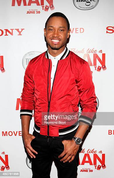 Television personality and actor Terrence J poses for photos prior to the 'Think Like A Man Too' movie screening at the Kerasotes Showplace Icon...