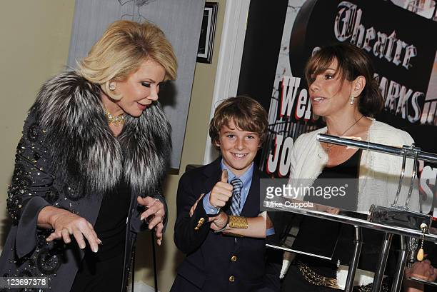 Television personality and actress Joan Rivers Cooper Endicott and television personality Melissa Rivers pose for a picture on location for the...