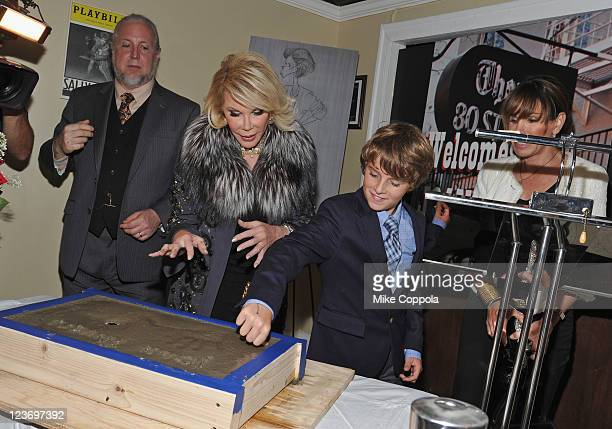 Television personality and actress Joan Rivers Cooper Endicott and television personality Melissa Rivers attend the filming of their reality show...