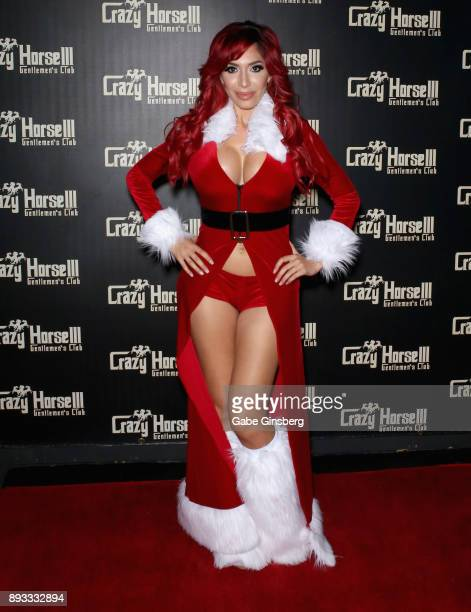 Television personality and adult film actress Farrah Abraham attends the Crazy Horse III Gentlemen's Club's NEON Flow holiday party on December 14...